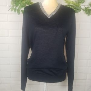 Armani Exchanged  black v-neck sweater size small